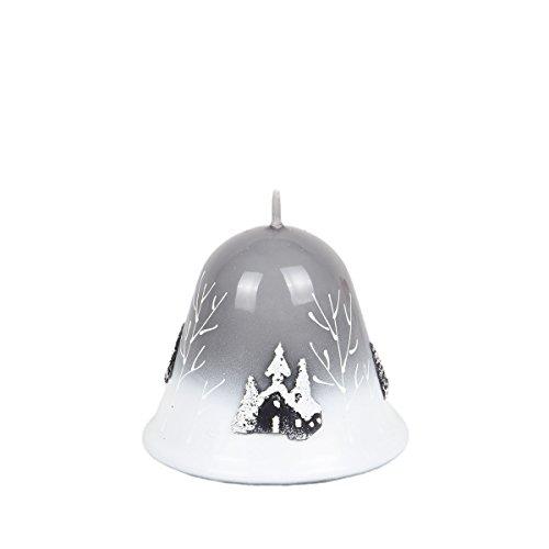 Vela Navidad campana 75mm de diámetro 85mm Sagrada Noche Stahlgrau