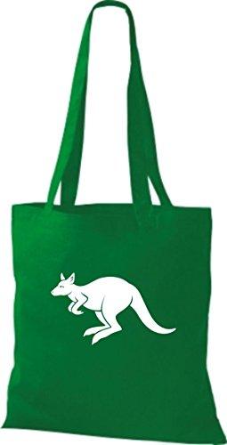 Shirtstown Pochette en tissu Animaux Kangourou Roo Vert - kelly