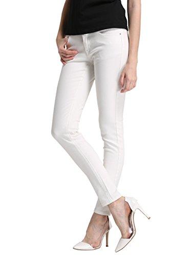 Alice & Elmer Damen Stretch Normaler Bund Slim Skinny Jeans Weiß 32W x 30L
