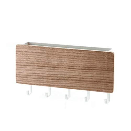 Wand Schlüssel Haken, Einfach Holz Lagerregal - Vintage Dekorativ Tür Rücken Schlüssel Hänger - Platz Sparend - für Heim Flur Schlafzimmer Wohnzimmer - Weiß, Free Size (Dekorative Holz-hänger)