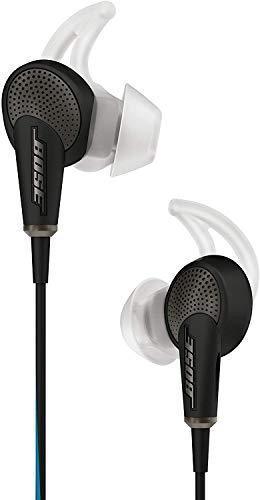 Bose QuietComfort 20 In-Ear-Kopfhörer (Acoustic Noise Cancelling, geeignet für Apple Gerät, 3,5 mm Klinkenstecker, 1,32 m Kabellänge) schwarz thumbnail