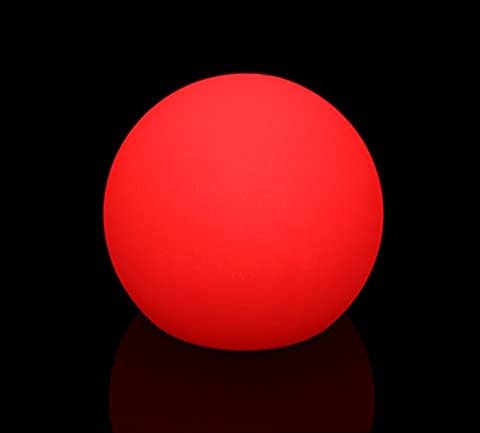 Exquisite 50 cm LED Leuchtkugel Gartenkugel multicolor RGB mit Farbwechsel und Fernbedienung aufladbar wasserfest Innen Außen IP65 Leuchtball Kugelleuchte