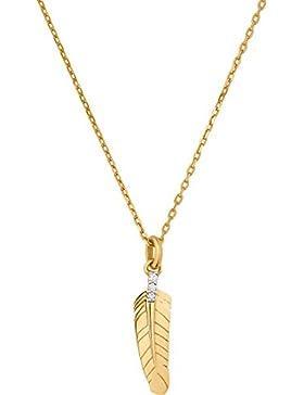 CHRIST Diamonds Damen-Kette 333er Gelbgold 3 Brillanten zus. ca. 0,02 ct. One Size, gold