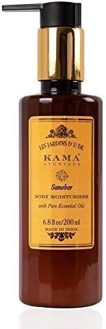 Kama Ayurveda Sanobar Body Moisturiser with Pure Essential Oils of Cypress and Orange, 200ml