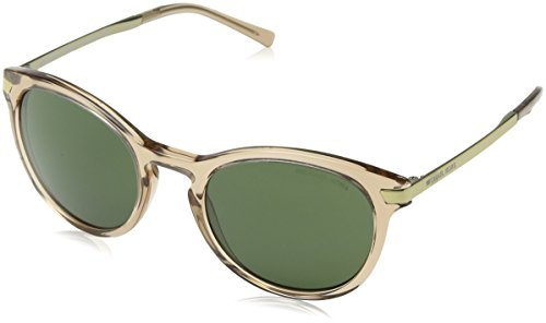 Michael Kors Damen ADRIANNA III 330271 53 Sonnenbrille, Brown Transparent/Green Solid,