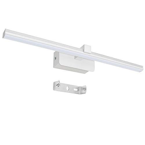 chesbung lampada bagno specchio, lampada per trucco da muro, specchio armadio,ip66, bianco caldo, neutro 4000k, 8w, 600 lm (bianco caldo)