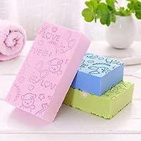 JIHB Bath Sponge, Skin Exfoliator, Face Scrubber and Dead Skin Remover for Women and Men PACK OF 3 (multicolor)