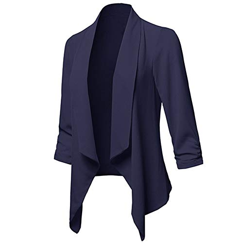 Oliviavan,Damen Solide Open Front Cardigan Langarm Blazer Freizeitjacke Mantel Strickjacke Business...