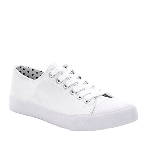 Abcd'r Mdchen Flache Sneakers Weiß