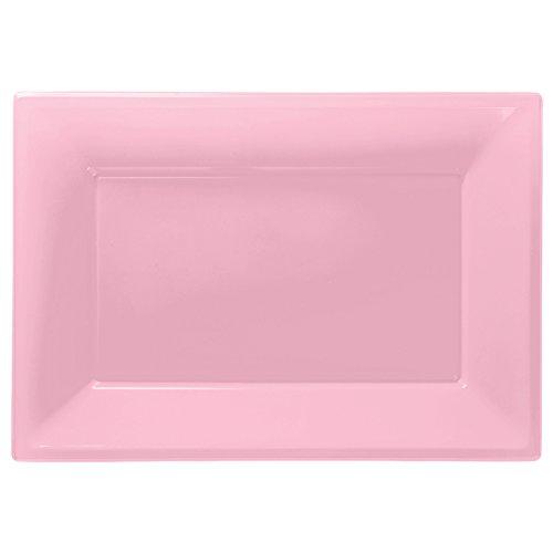 aus Kunststoff, Pink, 3 Stück (Servierplatten Halloween)