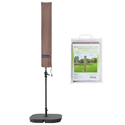 Schutzhülle für Sonnenschirm bis ca. Ø 300cm Premium Qualität aus hochwertigem 300GSM 600D Oxford Material - Grau