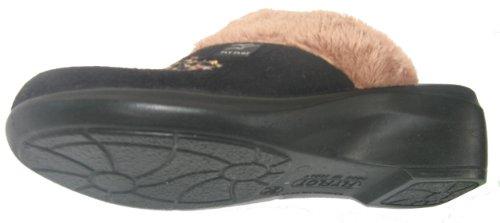 Fly Flot 861052 femme chaussons noire Noir
