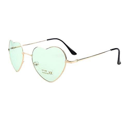 CCMOO Herzförmige Sonnenbrille Frauen Metall Rahmen Reflektierende Linse sonnenschutz Sonnenbrille Männer Mirror-1