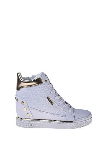 Guess Scarpe Donna Sneakers Alte con Zeppa Interna FL5FNLFAL12 Bianco  Taglia 37 Bianco 8f7318473ce