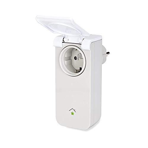 innogy SE Smart Home Zwischenstecker (außen) / Steckdosensteuerung; zur Steuerung der elektrischer Geräte im Außenbereich, spritzwassergeschützt, einfache Installation, auch für Feuchträume, 10267414