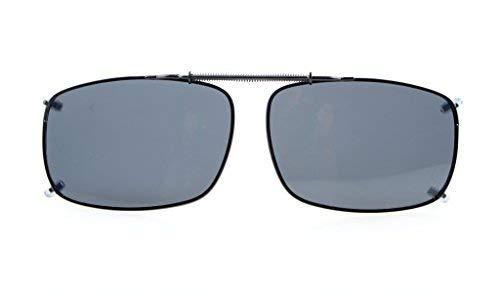 Eyekepper 58x38 MM Clip auf Sonnenbrillen mit Frühlings-Zugdeichsel Polarisiert Grau Linse