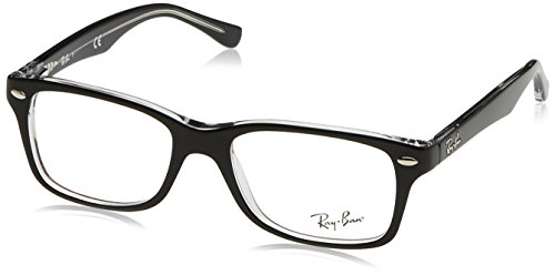 Ray-Ban Unisex - Kinder Brillengestell RY1531, Schwarz (Top Black On Transparent), 48
