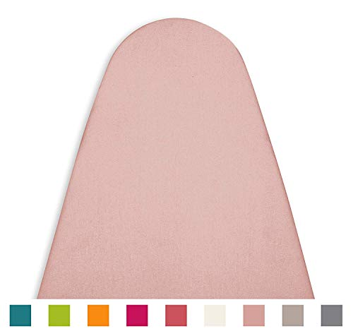 Encasa homes luxury ironing board cover extra thick pad, large (fits board length 118-125cm & width 36-40cms) powder pink