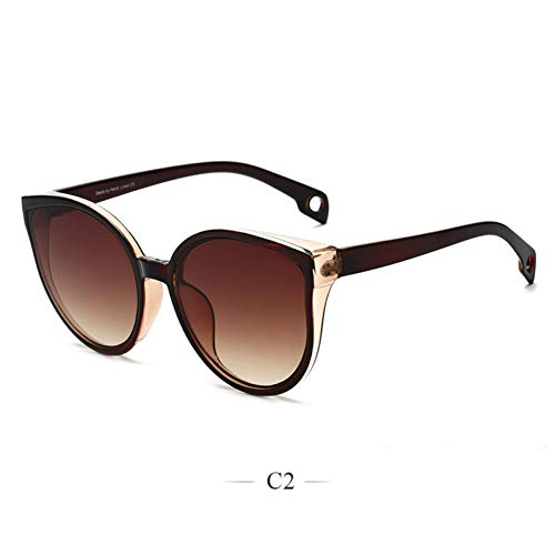 CCGSDJ Cat Eye Sonnenbrillen Für Frauen Übergroße Cateye Sonnenbrille Frauen Luxusmarke Große Cat Eye Brillen Vintage Eyewear