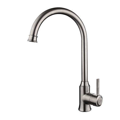 Auralum®Contemporary Kitchen Sink Mixer Tap with High Spout Sink Mixer Tap