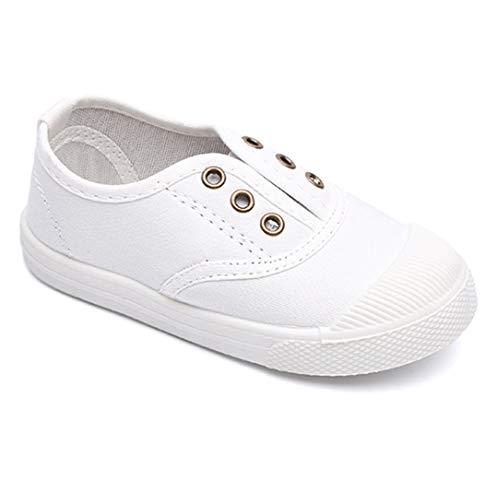 uirend Babys Schuhe - Unisex Kind Canvas Sneaker First Walking Schuhe Punt Low Top Slip On Weich Niedlich Lässig Leichter Schuh Mode Bequem Kinder Slip-on Schuhe