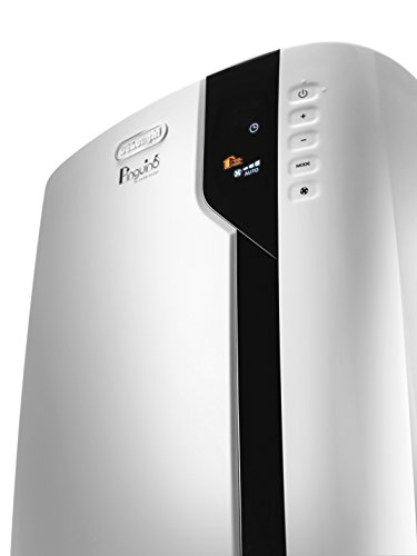 De'Longhi Pinguino PAC EX100 Silent - mobiles Klimagerät, Klimaanlage für Räume bis 110 m³, Luftentfeuchter, Ventilationsfunktion, 24h-Timer, Energieklasse A++, 2,5 kW, 80,5 x 44,5 x 39 cm, weiß