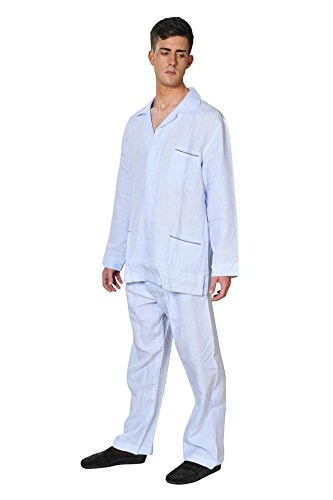 brioni-pajama-men-light-blue-cotton-plain