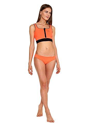 Glidesoul donna pour femme Vibrant Stripes Collection hipster Bas de bikini Pêche
