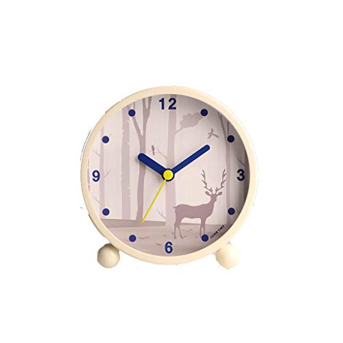 NVJD Mechanisch Laut Reizend Kleiner Wecker Kreativer Einfacher Student Clock Bedside Child Bedroom (Farbe : C)