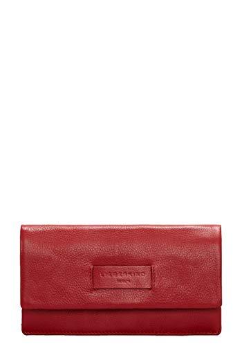 Liebeskind Berlin Damen Essential Slam Wallet Large Geldbörse, Rot (Italian Red), 2x10x19 cm