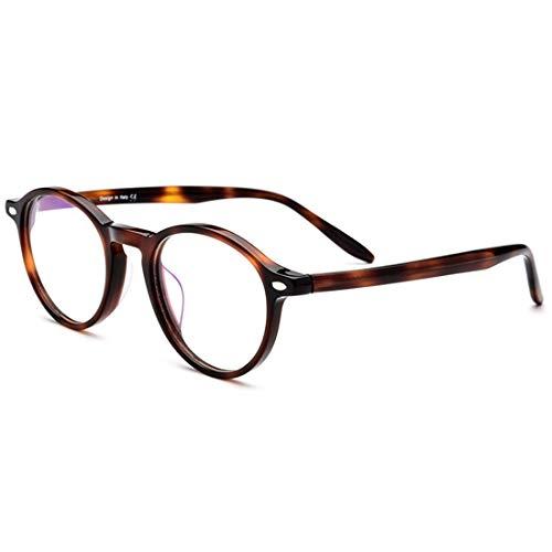 Yiph-Sunglass Sonnenbrillen Mode Herren Retro Brillen Acetat Fiber Full Frame Business Brillengestell Brillen mit klarer Linse. (Farbe : Leopard)