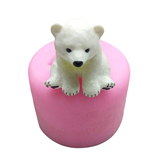 Silikonform 3D Eisbär Bär Silikon Form Auto Display Kerze Gussform Kuchen Dekoration DIY Handgemachte Fondant Clay Schokoladenform Seifenform Backformen