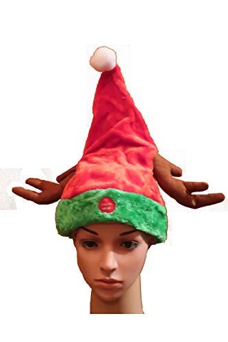 Live Ur Life < Lustige, tanzende Weihnachtsmütze mit Geweih - Weihnachtssong in Rock´n´Roll Version You Make Me Wanna Shout Merry Christmas - f. Kinder u. Erwachsene geeignet