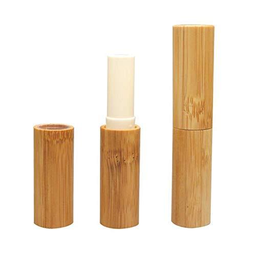 3 STÜCKE 3 ML 0,1 UNZE Leere Bambus Lippenbalsam Rohr Tragbare Durable Lippenstift Kreide Chapstick Dispensing Gläser Fläschchen Kosmetische DIY Container Halter (Leere Lippenstift Container)