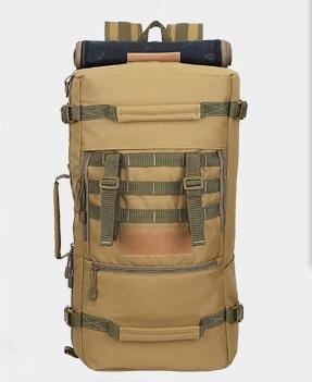 Alpinismo zaino di viaggio di grandi capacità multi-function borse sportive outdoor sports camouflage zaino camouflage zaino spalla 65*35*25cm, tre sabbia camouflage Nero