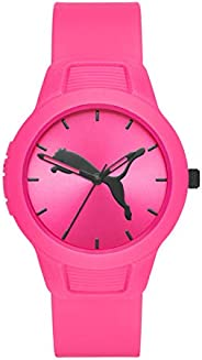 Puma Reset V2 Women's Pink Dial PU Leather Analog Watch - P