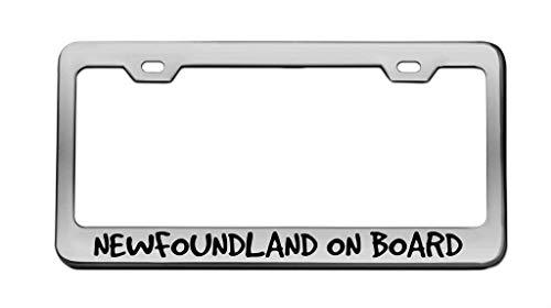 Newfoundland On Board Animal Chrome License Plate...