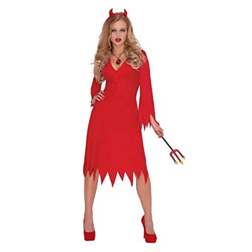 Christy's - Costume hot da diavolo, Donna, colore: Rosso, taglia: M