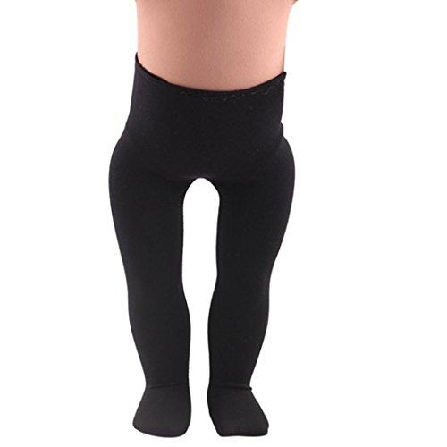BZLine® Baby Hochwertige Leggings für American Girl Doll von 18 Inch Doll Accessoires (Schwarz) (18-zoll-puppe-handy)
