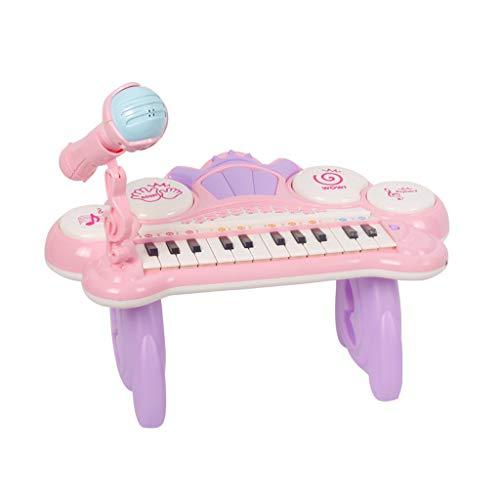 JIANPING Spielzeug Puzzle Klaviertastatur Kinder Baby Musik Frühes Lernen Anfänger Erste Schritte Musik 1-3-6 Jahre Kinder Keyboard Klavier (Farbe : Rosa)
