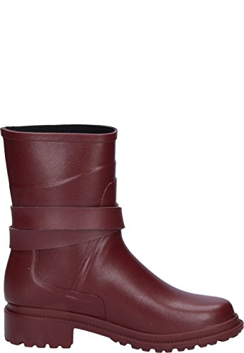 Aigle Womens Macadames Mid Rubber Boots Rouge