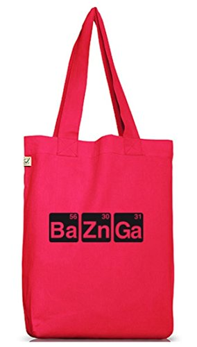 Shirtstreet24, BaZnGa, Jutebeutel Stoff Tasche Earth Positive Hot Pink