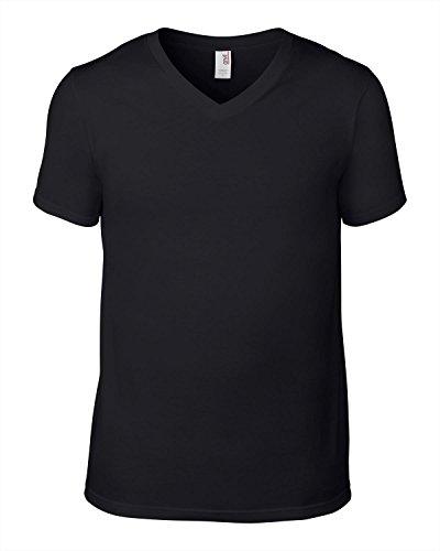 Anvil Anvil v-neck fashion tee Black