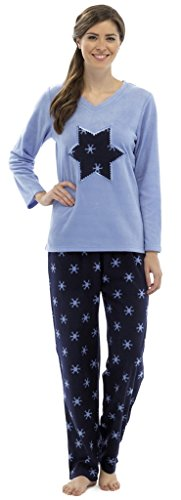 Snowflake Mesdames Fleece Pyjamas Bleu