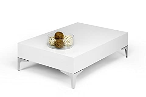 Table Basse 90x60 - mobilifiver Evo Chrome Table de salon, bois,