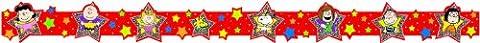 Eureka Peanuts Super Star Extra Wide Deco Trim, Set of