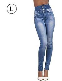 Damen High Waist Kleine Jeans Röhrenjeans Hochbund Jeanshose Bis Übergröße Skinny  Stretch Frauen Herbst Und Winter 3ffd0cbdba