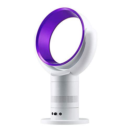 Tower Luftkühler Ventilator, Bladeless Fan Quiet, Mini Portable Air Conditioner Lüfter Verdunstungskühler mit Fernbedienung Luftkühler Small Desktop Fan-Blue (Color : Purple)
