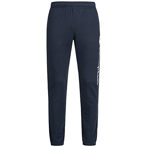 Champion Logo Trainingshose (Champion Herren Logo Sweat Pants Trainingshose navy)