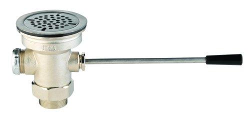 T & S Messing b-3962Ablaufgarnitur Abfluss Ventil mit Hebel Griff, 3Zoll x 2Zoll